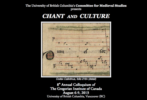 chant and culture: gregorian institute of canada